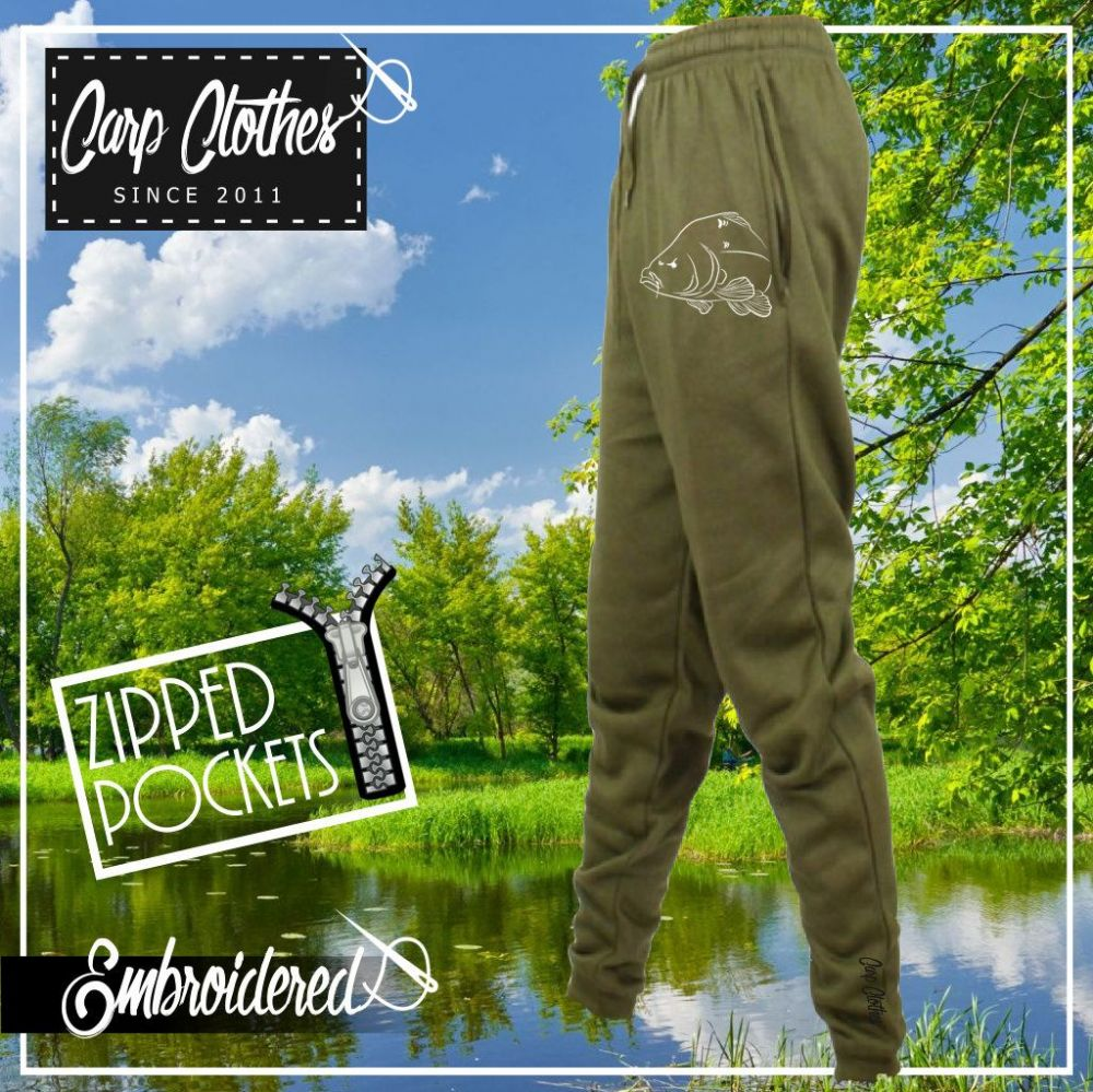 036 EMBROIDERED CARP JOGGERS